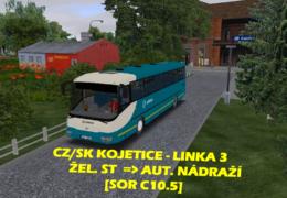 CZ/SK Let's Play | OMSI 2 | Kojetice | Linka 3 – Žel. stanice — Aut. nádraží | SOR C10.5