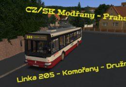 CZ/SK Let's Play | OMSI 2 | Modřany | Linka 205 (Komořany- Družná) | Renault Karosa Citybus