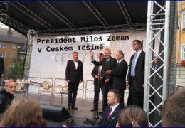 Prezident Miloš Zeman v Českém Těšíně