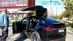 Evropský týden mobility v Třinci 2019 (TESLA MODEL X)