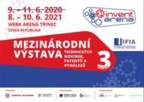 Veletrh technologických novinek a patentů (Invent Arena) byl pro letošní rok zrušen a přesunut na rok 2021